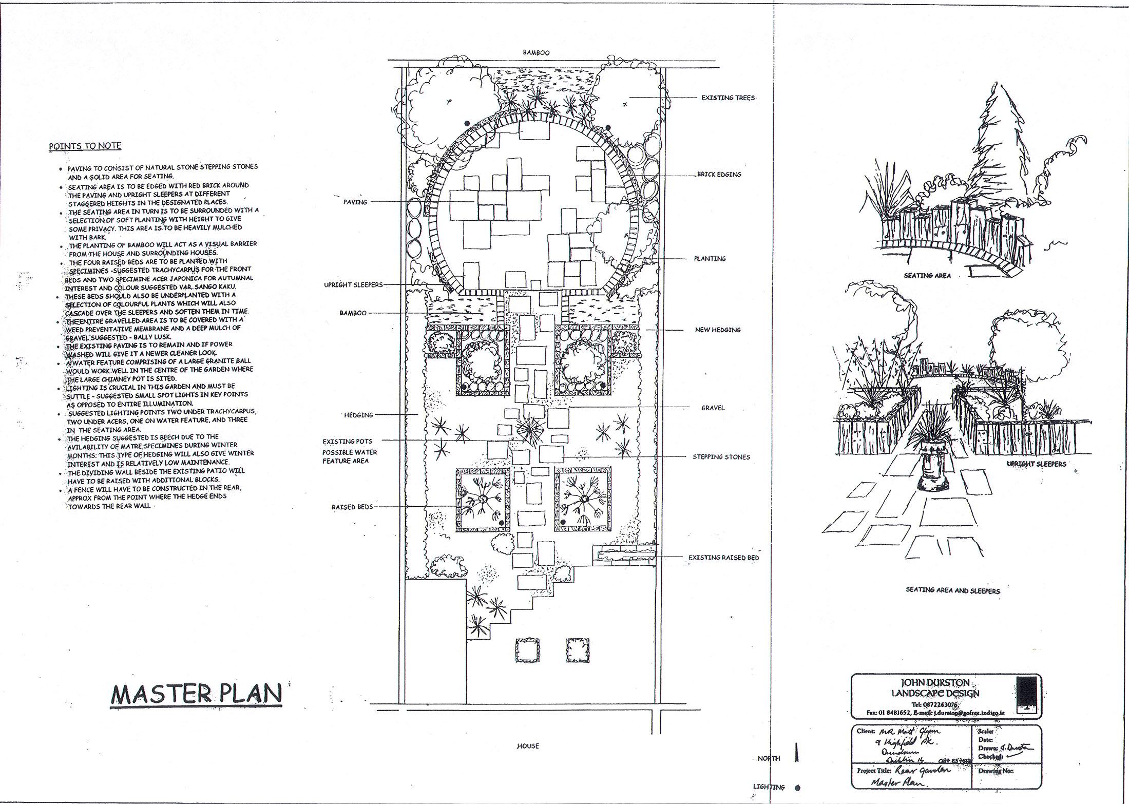 Garden Design Drawings Landscaping Architects Dublin Ireland