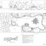 A Landscaping Designer's Detailed Design Plans