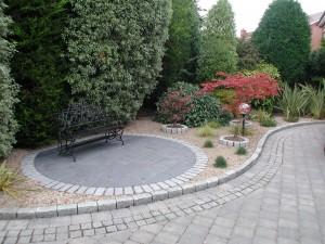 Driveway in a Garden in Blackrock, Dublin, Ireland