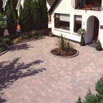 Front Garden Design with Paving Stones in Cabinteely, County Dublin - Landscaping.ie