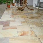 Quartzite mixed sized patio