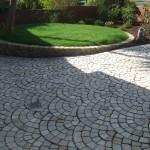 Natural stone quartzite driveway