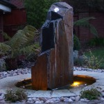 Monolith stone waterfeature