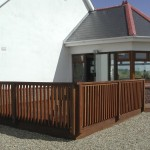 Hardwood deck and railings