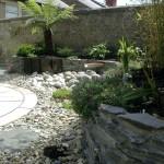 Black limestone raised bed