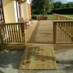 Spruce deck and ramp
