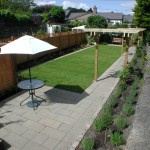 Fencing capped with trellising