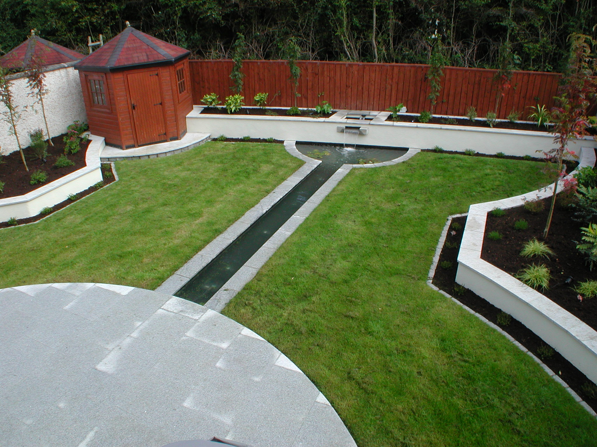 Lawn maintenance programme for client in wicklow for Garden designs ireland
