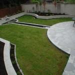 Silver granite patio