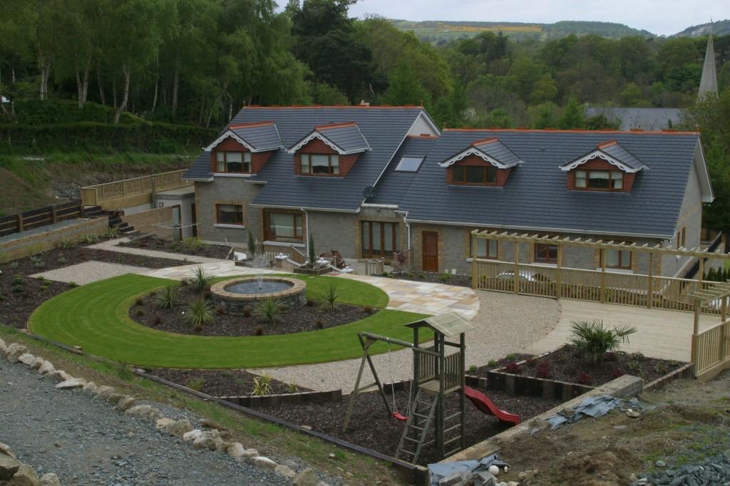 Playground in landscaped garden in enniskerry wicklow for Garden designs ireland