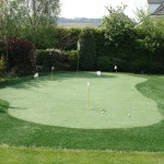 Golf Putting Green in an Irish Garden
