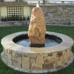 Monolith stone water feature