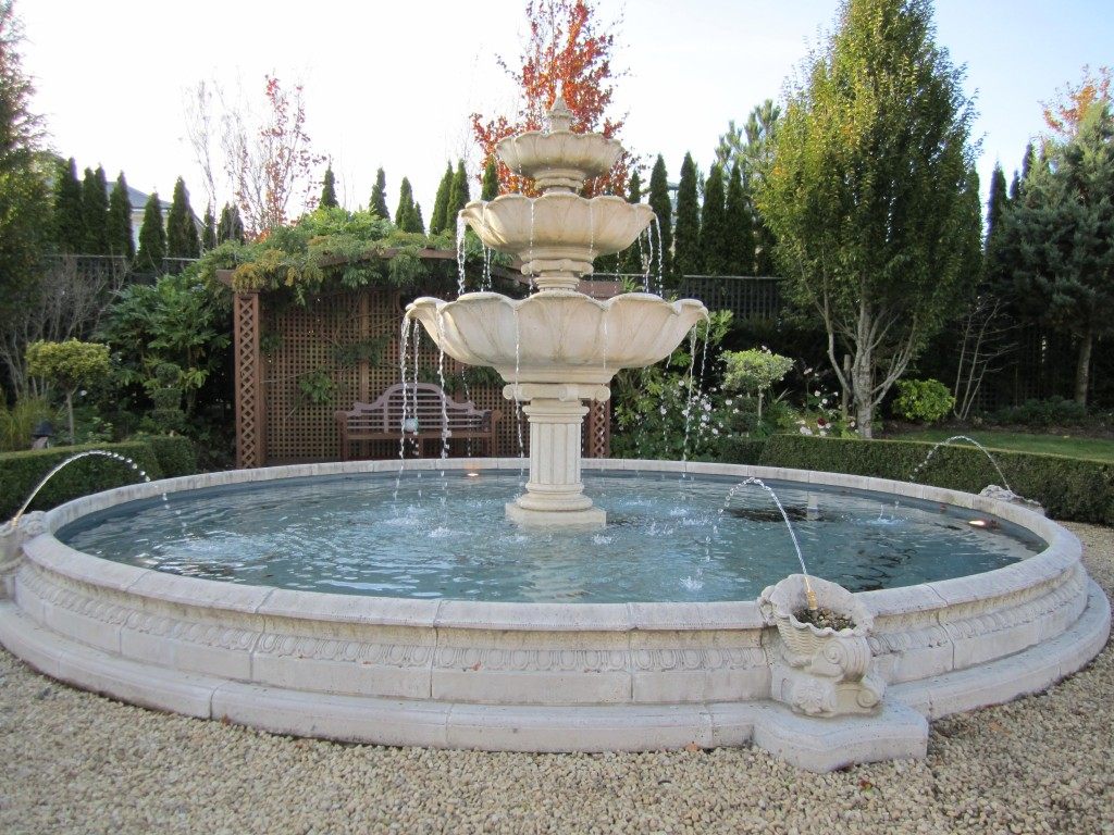 Haddonstone teired waterfeature