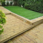 Decking and synthetic gras