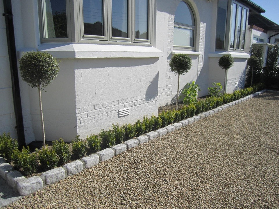 Planting softening front of house