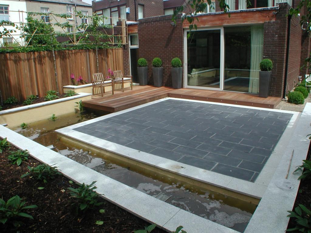 Garden landscaped in leeson village ireland landscaping for Award winning patio designs