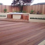 Decking of a Garden in Rathfarnham, Dublin, Ireland