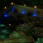 Shankill, Dublin, Ireland - garden with outdoor garden lighting at night time