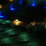 Shankill garden with outdoor garden lighting