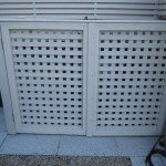 Trellised wheelie bin screen