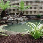 Garden Pond in an Irish Landscapers Design
