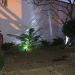 Garden With Outdoor Lighting Design and Landscaped Garden