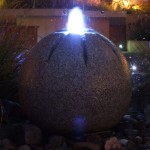 Fountain and Outoor Lighting in Garden Design