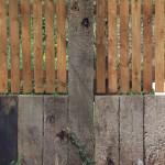 Railway sleeper fence