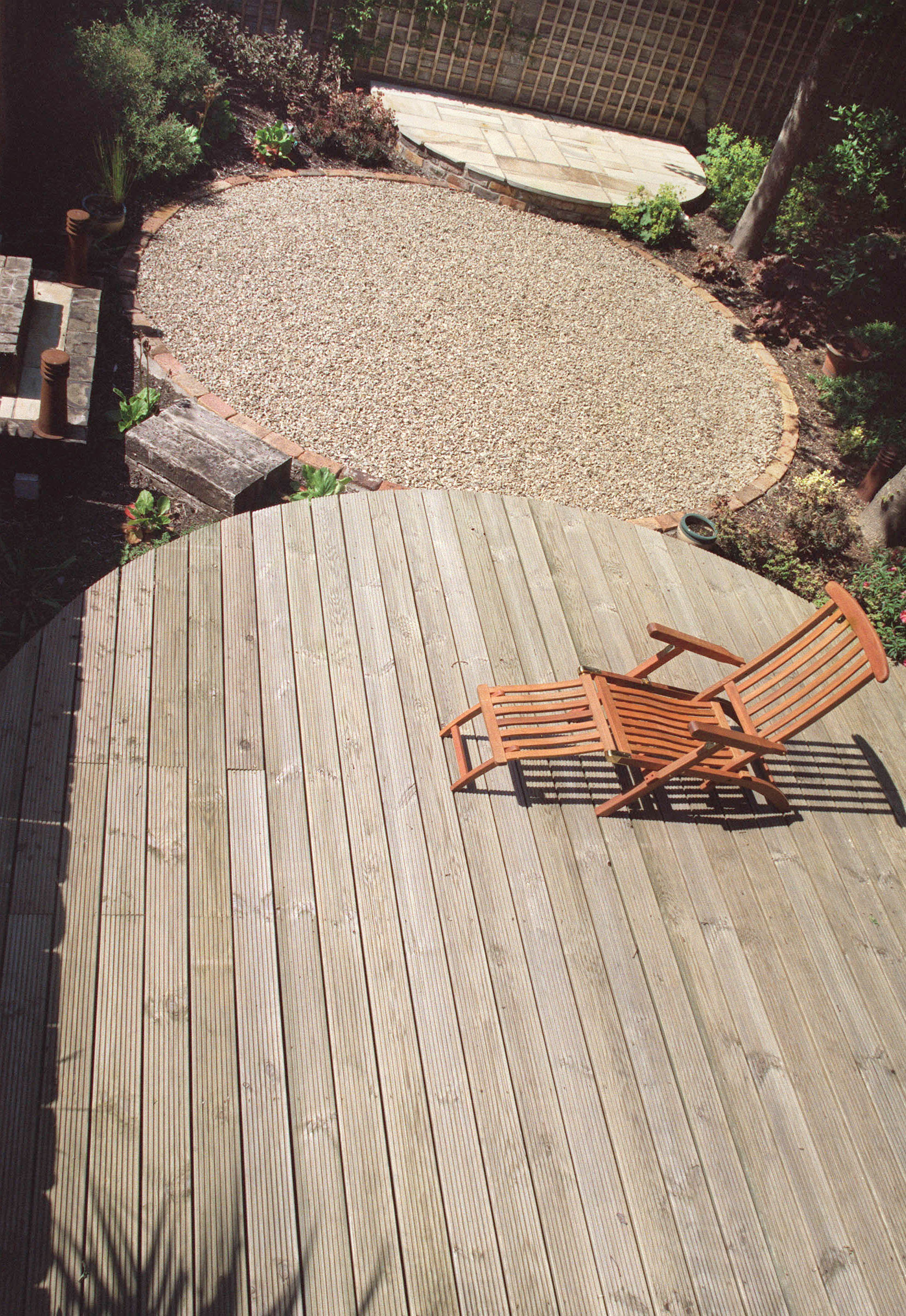 Garden decking dublin for Circular garden decking