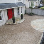 Dravel driveway with limestone