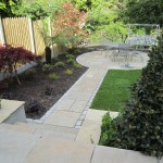 Limestone path and patio