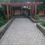 Cobblelock and pergola driveway
