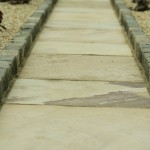 Indian sandstone path