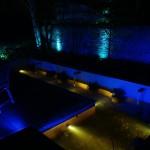 Blue Garden Lighting Design by Landscaper Kevin Baumann