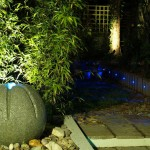 Irish Garden Landscaped with Outdoor Garden Lighting