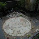 Outdoor Patio Area in a Garden in Booterstown, Dublin, Ireland