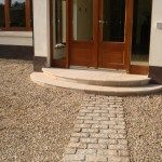 Granite cobble path