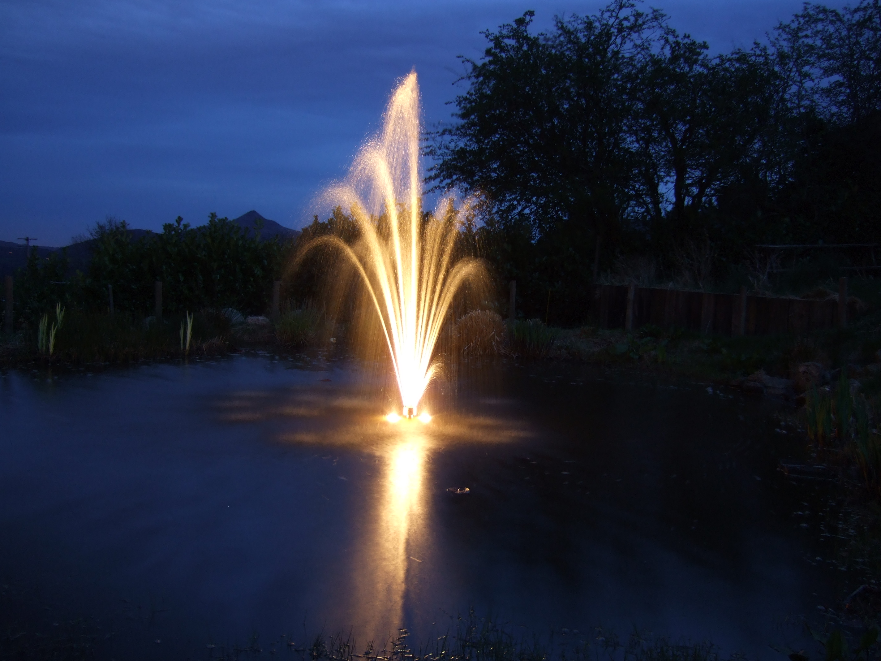 Nightime Water Features