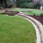 Indian sandstone sett mowing edge