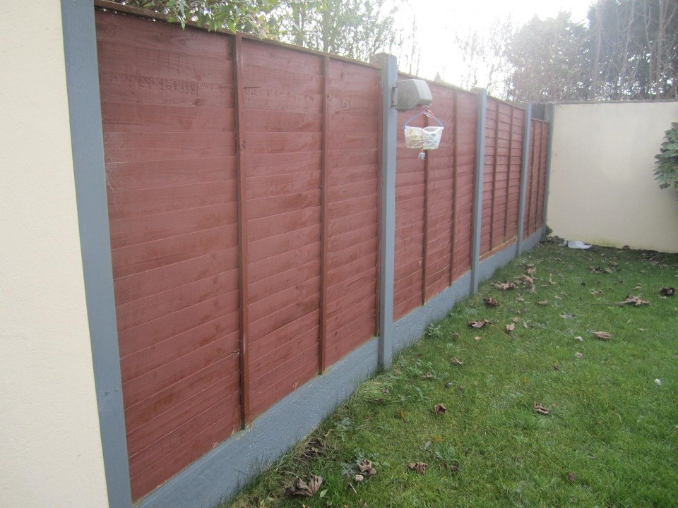 Concrete post & panel fence