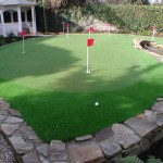 Golf Putting Green in a Garden Design - Landscaping.ie