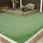 Landscaping Design with Golf Putting Green