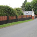 Boundary fence in Glencree