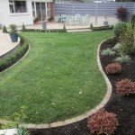 Granite cobble mowing edge
