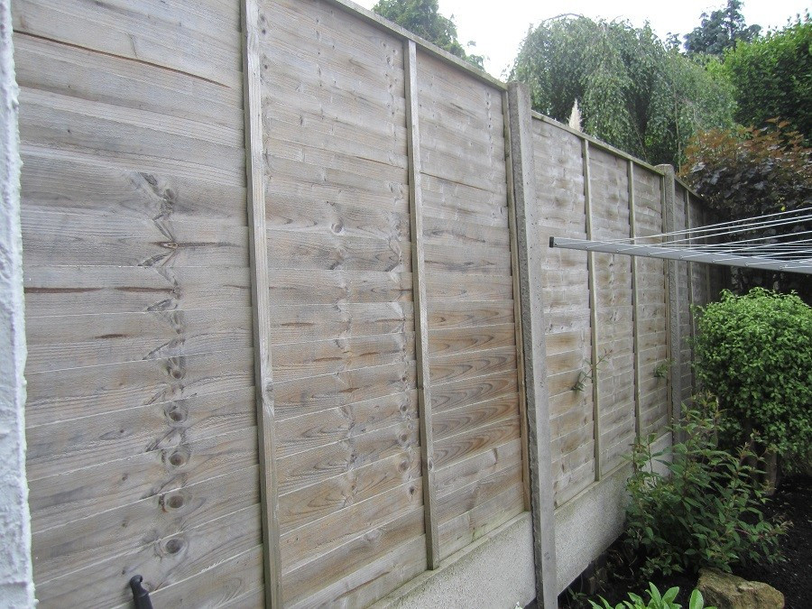 Concrete Post & Panel Fencing Before