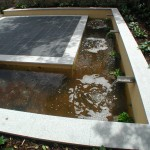 Garden Landscape with Water Feature in Leeson Village