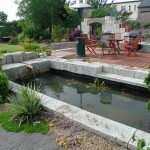 Landscaped Gardenwith Water Feature by Kevin Baumman