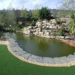 Water Feature in a Garden Design - Landscaping.ie