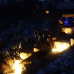 Outdoor Lighting in a Garden Rockery in Ireland