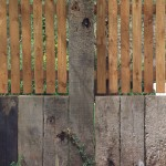 Railway sleeper fence